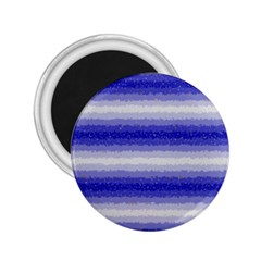 Horizontal Dark Blue Curly Stripes 2 25  Button Magnet by BestCustomGiftsForYou