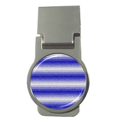 Horizontal Dark Blue Curly Stripes Money Clip (round) by BestCustomGiftsForYou