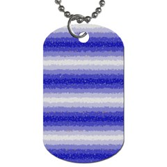 Horizontal Dark Blue Curly Stripes Dog Tag (two Sided)  by BestCustomGiftsForYou