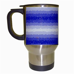 Horizontal Dark Blue Curly Stripes Travel Mug (white) by BestCustomGiftsForYou