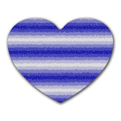 Horizontal Dark Blue Curly Stripes Mouse Pad (heart) by BestCustomGiftsForYou