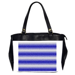 Horizontal Dark Blue Curly Stripes Oversize Office Handbag (two Sides) by BestCustomGiftsForYou