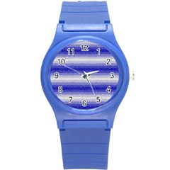 Horizontal Dark Blue Curly Stripes Plastic Sport Watch (small) by BestCustomGiftsForYou