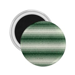 Horizontal Dark Green Curly Stripes 2 25  Button Magnet by BestCustomGiftsForYou