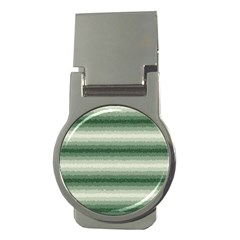 Horizontal Dark Green Curly Stripes Money Clip (round) by BestCustomGiftsForYou