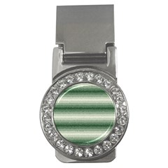 Horizontal Dark Green Curly Stripes Money Clip (cz) by BestCustomGiftsForYou