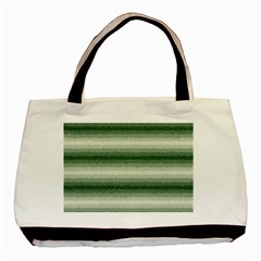 Horizontal Dark Green Curly Stripes Classic Tote Bag by BestCustomGiftsForYou