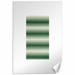 Horizontal Dark Green Curly Stripes Canvas 20  X 30  (unframed)