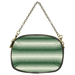 Horizontal Dark Green Curly Stripes Chain Purse (two Sided)  by BestCustomGiftsForYou