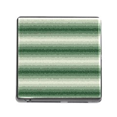 Horizontal Dark Green Curly Stripes Memory Card Reader With Storage (square) by BestCustomGiftsForYou