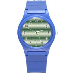 Horizontal Dark Green Curly Stripes Plastic Sport Watch (small) by BestCustomGiftsForYou
