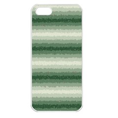Horizontal Dark Green Curly Stripes Apple Iphone 5 Seamless Case (white) by BestCustomGiftsForYou