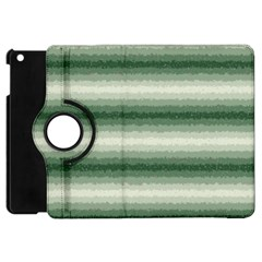 Horizontal Dark Green Curly Stripes Apple Ipad Mini Flip 360 Case by BestCustomGiftsForYou