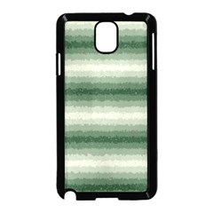 Horizontal Dark Green Curly Stripes Samsung Galaxy Note 3 Neo Hardshell Case (black) by BestCustomGiftsForYou