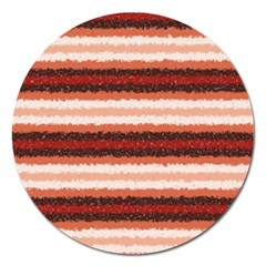 Horizontal Native American Curly Stripes   1 Magnet 5  (round) by BestCustomGiftsForYou