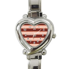 Horizontal Native American Curly Stripes   1 Heart Italian Charm Watch  by BestCustomGiftsForYou