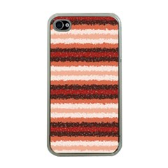 Horizontal Native American Curly Stripes - 1 Apple Iphone 4 Case (clear) by BestCustomGiftsForYou