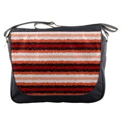 Horizontal Native American Curly Stripes   1 Messenger Bag by BestCustomGiftsForYou