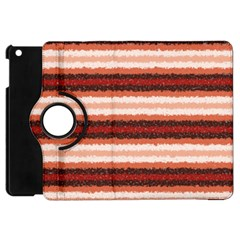 Horizontal Native American Curly Stripes   1 Apple Ipad Mini Flip 360 Case by BestCustomGiftsForYou