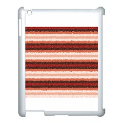 Horizontal Native American Curly Stripes   1 Apple Ipad 3/4 Case (white) by BestCustomGiftsForYou