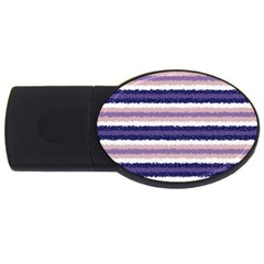 Horizontal Native American Curly Stripes   2 2gb Usb Flash Drive (oval)