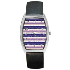 Horizontal Native American Curly Stripes   2 Tonneau Leather Watch by BestCustomGiftsForYou