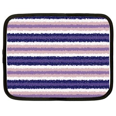 Horizontal Native American Curly Stripes   2 Netbook Sleeve (xl) by BestCustomGiftsForYou