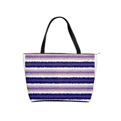Horizontal Native American Curly Stripes   2 Large Shoulder Bag by BestCustomGiftsForYou