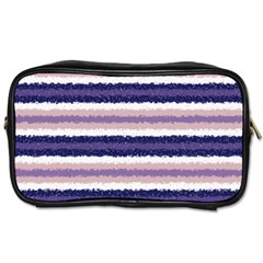 Horizontal Native American Curly Stripes   2 Travel Toiletry Bag (one Side)