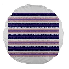 Horizontal Native American Curly Stripes   2 18  Premium Round Cushion