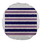 Horizontal Native American Curly Stripes - 2 18  Premium Round Cushion  Front