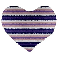 Horizontal Native American Curly Stripes   2 19  Premium Heart Shape Cushion by BestCustomGiftsForYou