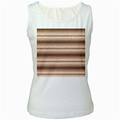 Horizontal Native American Curly Stripes   3 Women s Tank Top (white) by BestCustomGiftsForYou