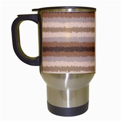 Horizontal Native American Curly Stripes   3 Travel Mug (white) by BestCustomGiftsForYou