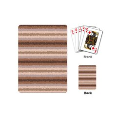Horizontal Native American Curly Stripes   3 Playing Cards (mini) by BestCustomGiftsForYou
