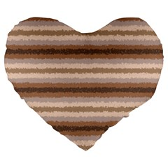Horizontal Native American Curly Stripes   3 19  Premium Heart Shape Cushion by BestCustomGiftsForYou
