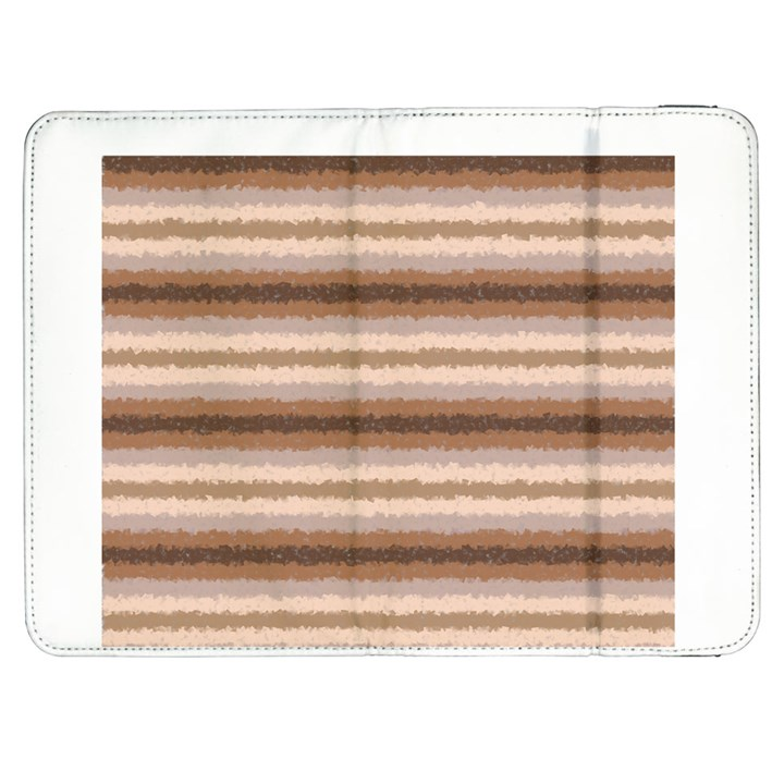 Horizontal Native American Curly Stripes - 3 Samsung Galaxy Tab 7  P1000 Flip Case