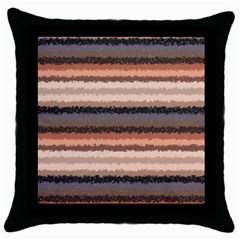 Horizontal Native American Curly Stripes   4 Black Throw Pillow Case by BestCustomGiftsForYou