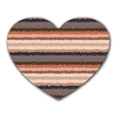 Horizontal Native American Curly Stripes   4 Mouse Pad (heart) by BestCustomGiftsForYou