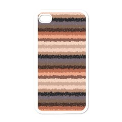 Horizontal Native American Curly Stripes   4 Apple Iphone 4 Case (white)