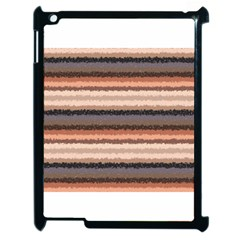 Horizontal Native American Curly Stripes   4 Apple Ipad 2 Case (black)