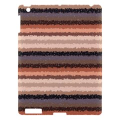 Horizontal Native American Curly Stripes   4 Apple Ipad 3/4 Hardshell Case by BestCustomGiftsForYou