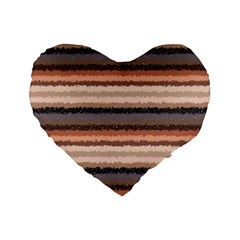 Horizontal Native American Curly Stripes   4 16  Premium Heart Shape Cushion  by BestCustomGiftsForYou