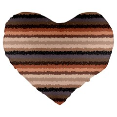 Horizontal Native American Curly Stripes   4 19  Premium Heart Shape Cushion by BestCustomGiftsForYou