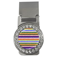 Horizontal Vivid Colors Curly Stripes   1 Money Clip (cz) by BestCustomGiftsForYou