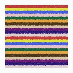 Horizontal Vivid Colors Curly Stripes   1 Glasses Cloth (medium, Two Sided) by BestCustomGiftsForYou