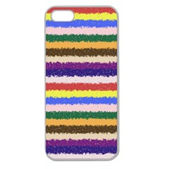 Horizontal Vivid Colors Curly Stripes   1 Apple Seamless Iphone 5 Case (clear) by BestCustomGiftsForYou