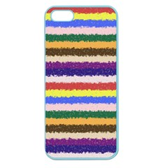 Horizontal Vivid Colors Curly Stripes   1 Apple Seamless Iphone 5 Case (color) by BestCustomGiftsForYou