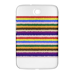 Horizontal Vivid Colors Curly Stripes   1 Samsung Galaxy Note 8 0 N5100 Hardshell Case  by BestCustomGiftsForYou