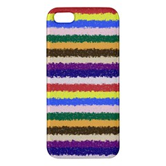 Horizontal Vivid Colors Curly Stripes   1 Iphone 5s Premium Hardshell Case by BestCustomGiftsForYou